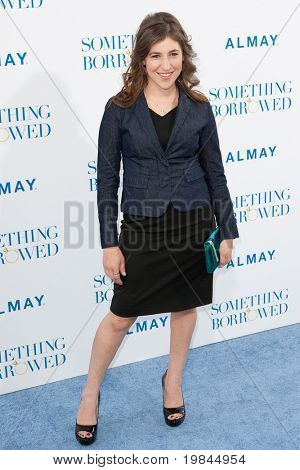 HOLLYWOOD, CA. - MAY 3: Mayim Bialik arrives at the Los Angeles premiere of Something Borrowed at Grauman's Chinese Theatre on May 3, 2011 in Hollywood, California.