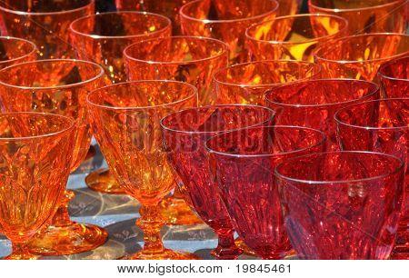 Orange and red glasses