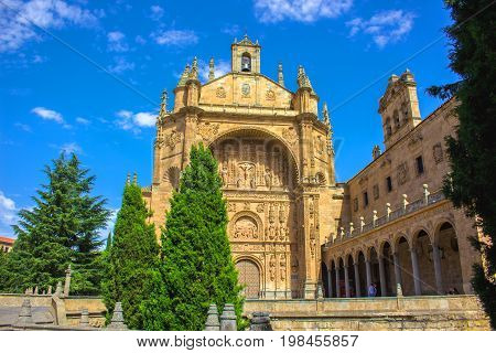 New Cathedral of Salamanca. Salamanca city, Castile and León, Spain. Picture taken - 29 july 2017.