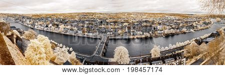 Wide Panoramic Infrared View Of Namur