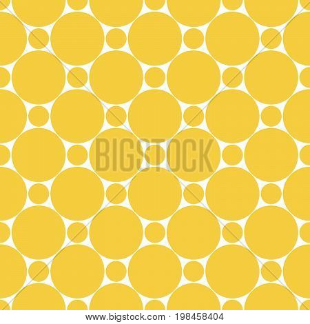 Seamless dots seamless circles. Geo geometric pattern with round forms in gold. Seamless background with monotone pattern. Oriental simple background in vector.