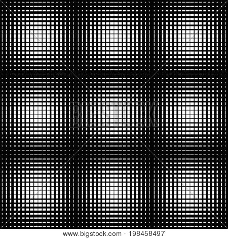 Seamless halftone pattern geo geometric background crosshatch screen print texture black and white vector graphic seamless fabric print seamless halftone background digital background