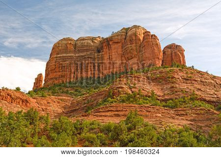 Red Rock Formations against the Sky at the Cathedral Rocks near Sedona Arizona
