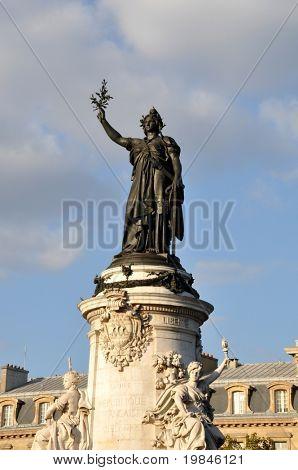 The Republic statue in Paris