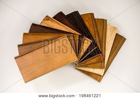 Wood flooring, Samples of wood flooring, Colors of wood flooring, Natural wood flooring of maple, oak, cherry