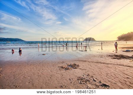 Sand of beach Thailand sea