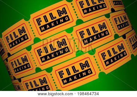 Film Making Director Movie Production Tickets 3d Illustration