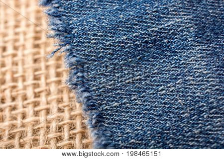 Denim Canvas Placed On  Linen Canvas
