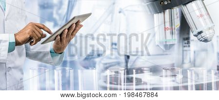 Science Research And Technology Concept.