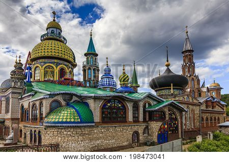 The Temple of All Religions or the Universal Temple is an architectural complex in Kazan Russia
