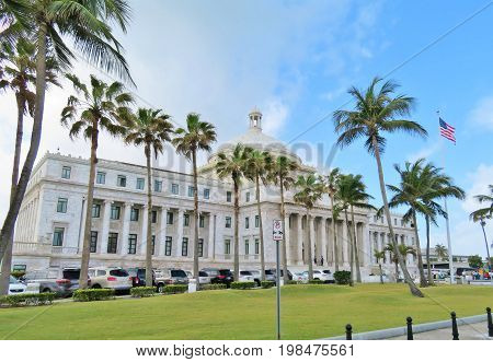 The Capital Building in San Juan Puerto Rico - March 9 2017 - Government building in San Juan