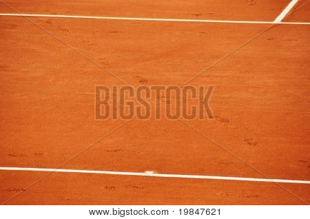 Clay tennis court poster