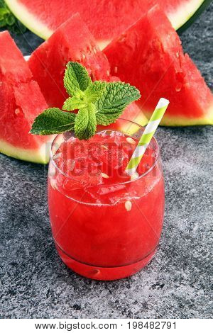 Tasty Fresh Appetizing Watermelon Drink Smoothie. Watermelon Dri