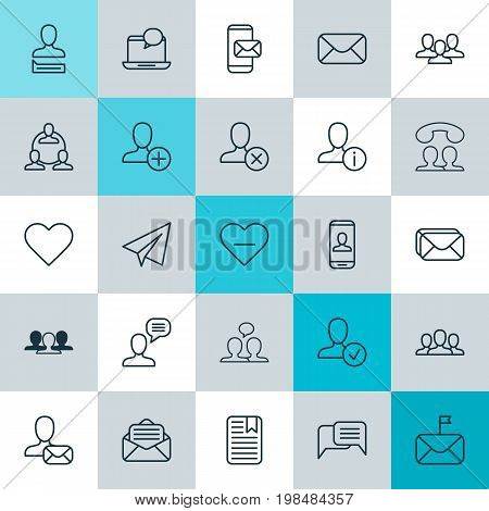 Social Icons Set. Collection Of Message, Significant, Ban And Other Elements