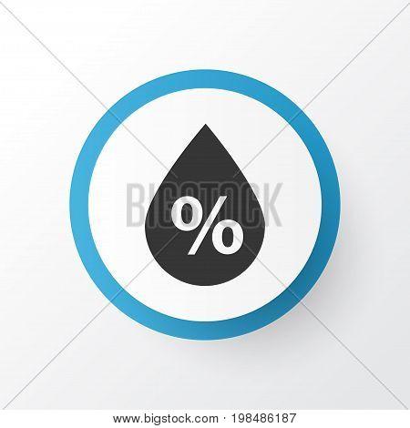 Premium Quality Isolated Moisture Element In Trendy Style.  Humidity Icon Symbol.