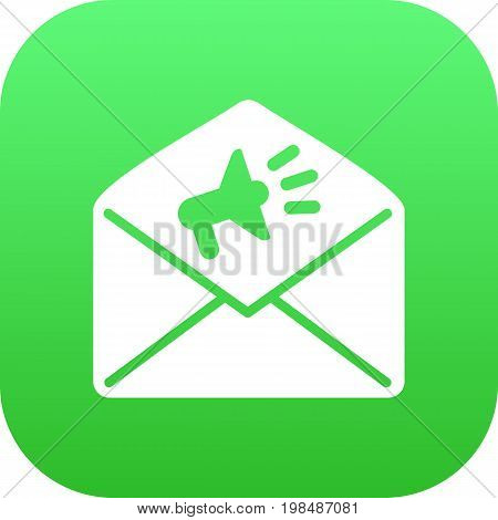 Vector Announcement Element In Trendy Style.  Isolated Mail Icon Symbol On Clean Background.