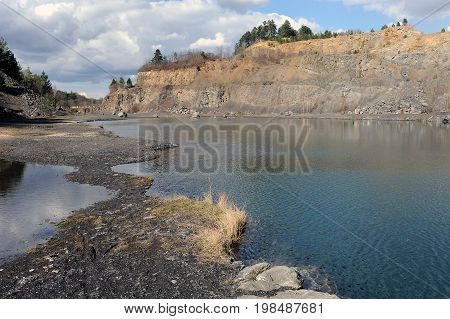 Quarry Kosov in central Bohemia, Czech republic