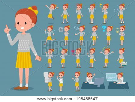 Flat Type Polka Dot Clothes Ribbon Girl_1