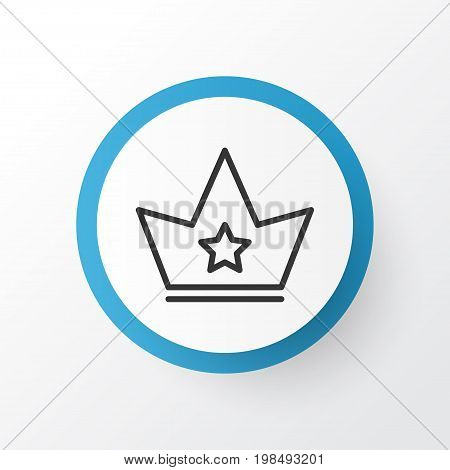 Premium Quality Isolated Corona Element In Trendy Style.  Crown Icon Symbol.
