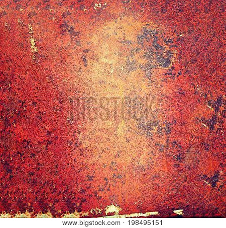 Abstract close up rust metal wall texture background