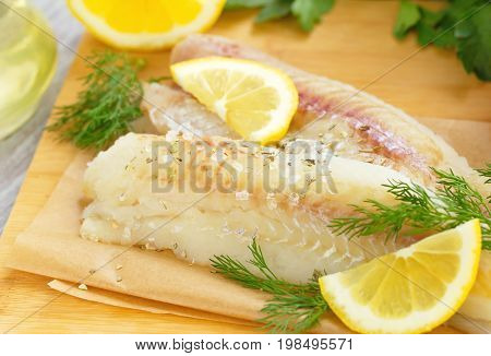 Raw Fish With Spices And Lemon