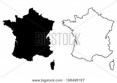 France map vector illustration , scribble sketch France map