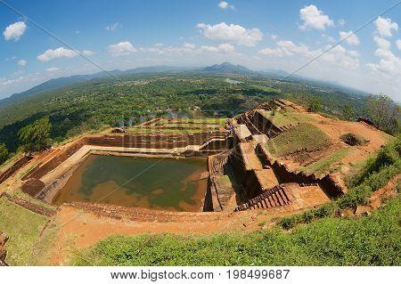 Water cistern on top of the Sigiriya Rock fortress, Sri Lanka.
