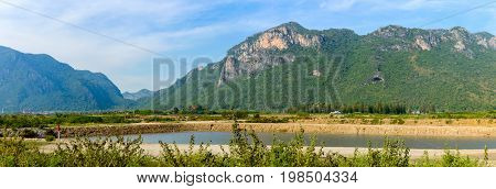 Landscape With Rivers And Hills In The Khao Sam Roi Yot National Park South Of Hua Hin In Thailand