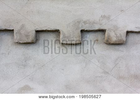 Texture Of Old Plaster With Worn Grey Paint