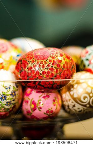 Close-up Of Ornamented Easter Eggs