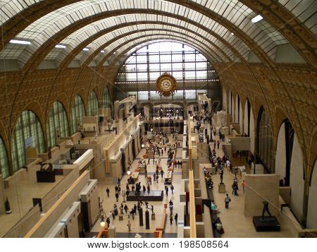 View of the hall of Orsay museum on april 2008 23th. The place is an old train station.