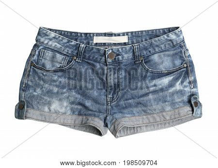 Women jeans shorts (with clipping path) isolated on white background