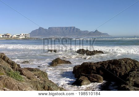 VIEW OF TABLE MOUNTAIN, FROM BLOUBERG STRAND, CAPE TOWN, SOUTH AFRICA 33cc