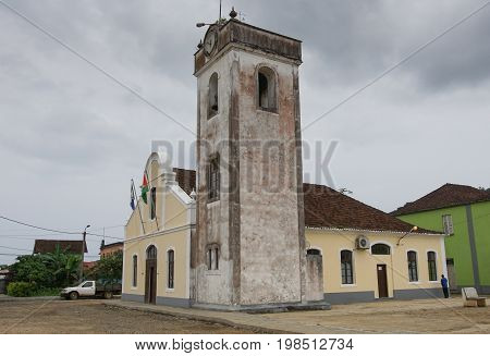 SANTO ANTONIO, SAO TOME AND PRINCIPE - FEBRUARY 3, 2017: Church in Santo Antonio on Principe Island on February 3, 2017 in Sao Tome and Principe, Africa