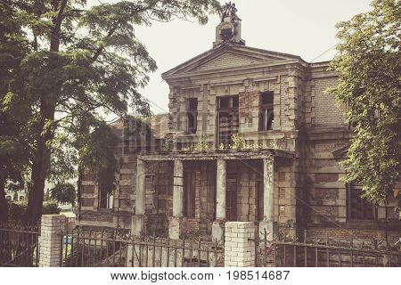 Konin, Poland. Abandoned And Neglected Edward Raymond's Palace.
