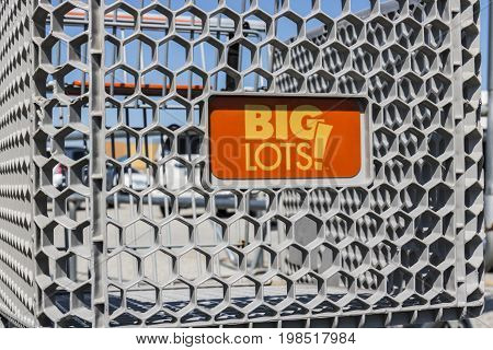 Kokomo - Circa August 2017: Big Lots Retail Discount Location. Big Lots is a Discount Chain Selling Food Furniture and Housewares VII