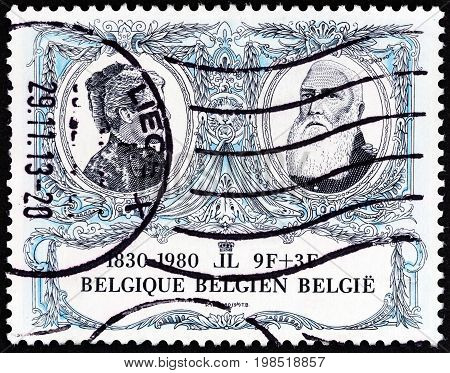 BELGIUM - CIRCA 1980: A stamp printed in Belgium from the