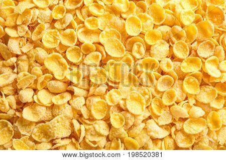 Tasty cornflakes as background