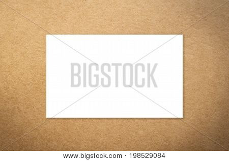 3d rendering white blank name card or business card