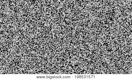 Pixel Noise Vector. VHS Glitch Texture TV Screen. Introduction And The End Of The TV Programming.