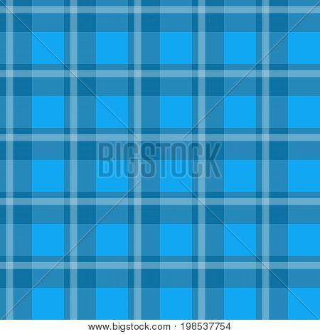 Sample pretty seamless bright blue checkered fabric.