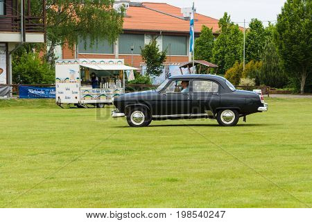 PAAREN IM GLIEN GERMANY - MAY 23 2015: Soviet cars GAZ M21 Volga on the exhibition field. The oldtimer show in MAFZ.