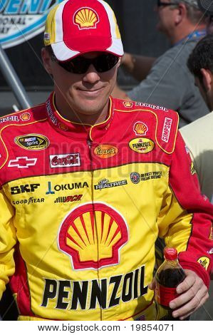AVONDALE, AZ - APRIL 10: NASCAR driver Kevin Harvick makes an appearance before the start of the Subway Fresh Fit 600 on April 10, 2010 in Avondale, AZ.