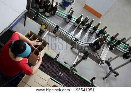 Packing Of Bottles Of Wine