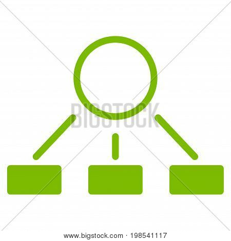 Hierarchy vector icon. Flat eco green symbol. Pictogram is isolated on a white background. Designed for web and software interfaces.