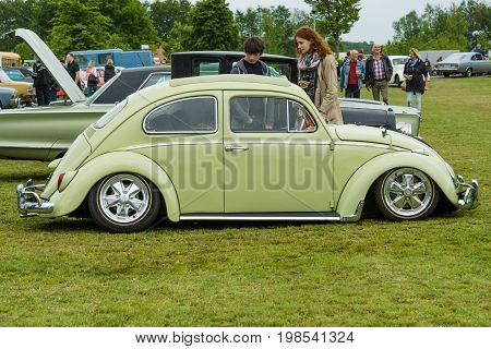 PAAREN IM GLIEN GERMANY - MAY 23 2015: Custom car based on the Volkswagen Beetle. The oldtimer show in MAFZ.