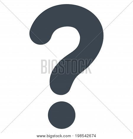Question vector icon. Flat smooth blue symbol. Pictogram is isolated on a white background. Designed for web and software interfaces.