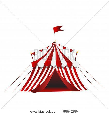 circus tent performances presentation show isolated on white background