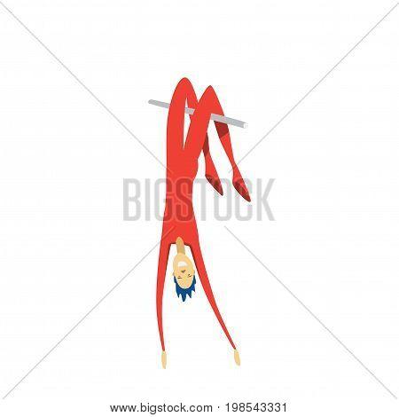 aerial acrobat. Circus performances presentation show isolated on white background