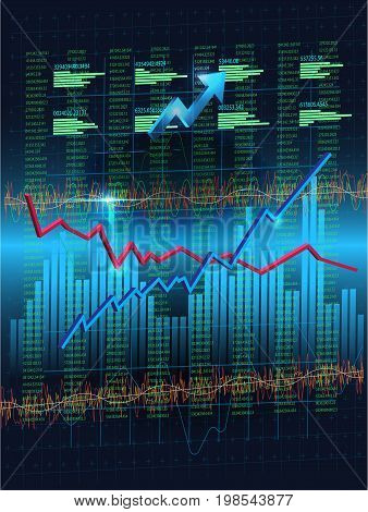 Forex Currency Trading Concept. Financial Markets and Global Economy Concept. digital information represent via chart.